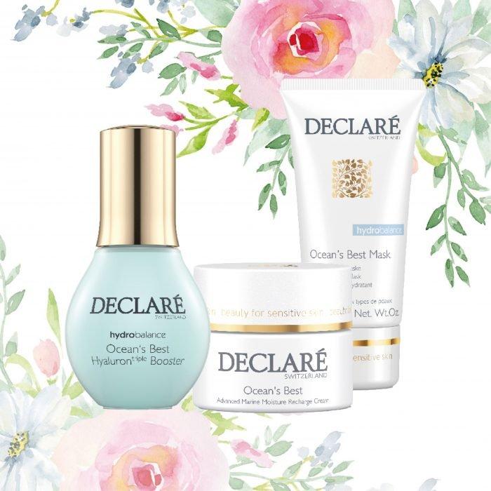 Declare Cadeauset met Ocean's Best Cream, Hyaluron Triple Booster, Ocean's Best Mask