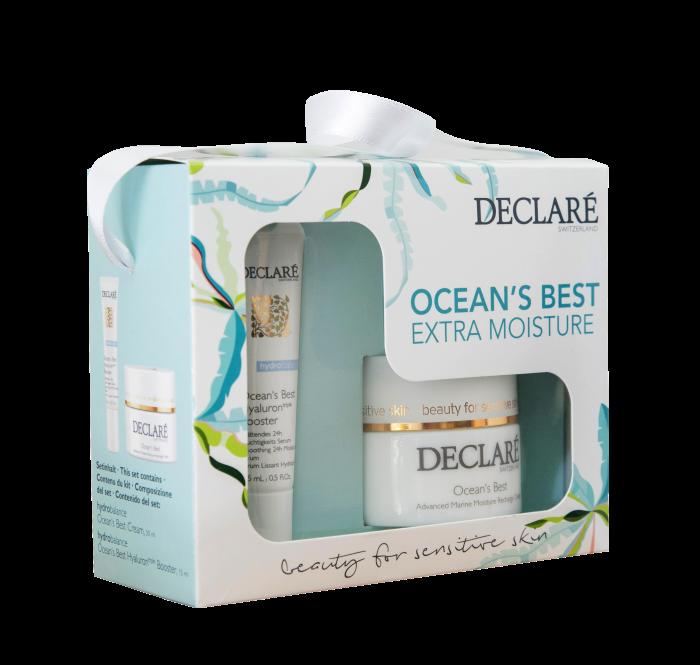 Declare cadeauset met Ocean's Best Cream en Hyaluron triple Booster
