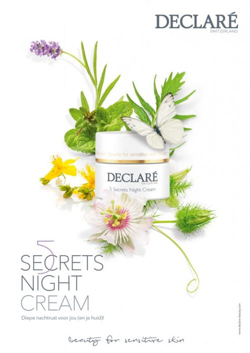 5 Secrets Night Cream met Declaré oogmasker