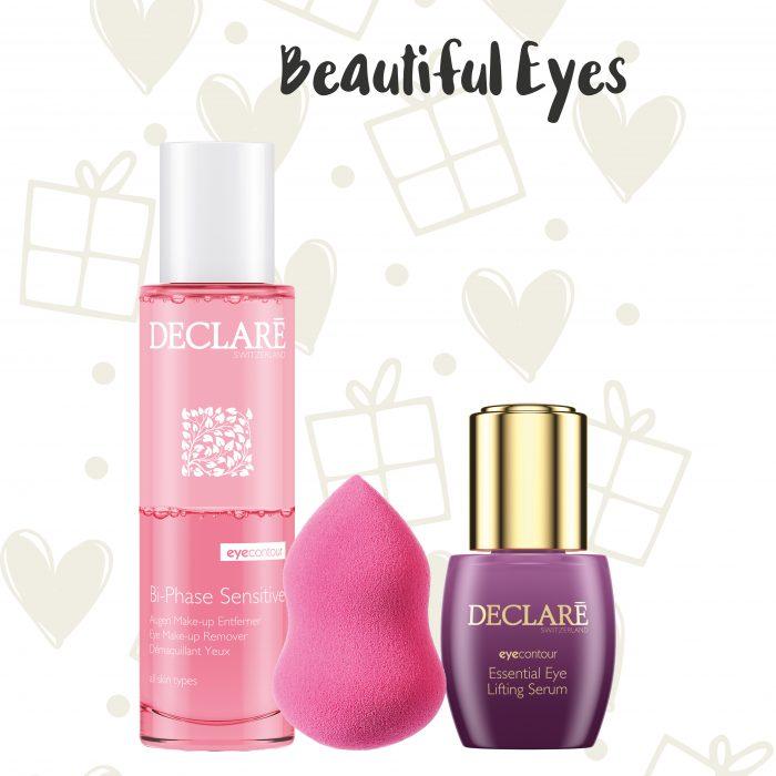 Declaré cadeauset Bi-Phase Sensitive Make-up Remover - Eye Lifting Serum - massagespons