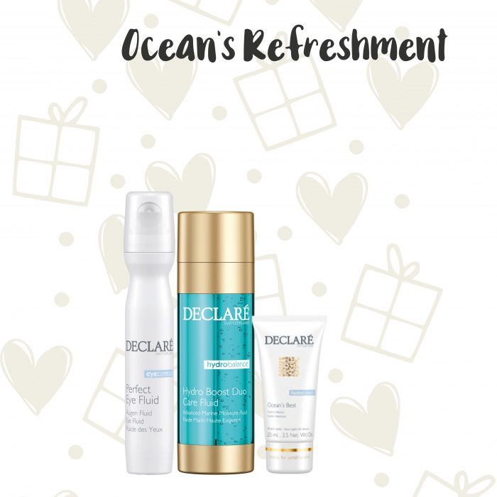 Declaré cadeauset Perfect Eye Fluid - Hydro Boost Duo Care Fluid - Ocean's Best Cream