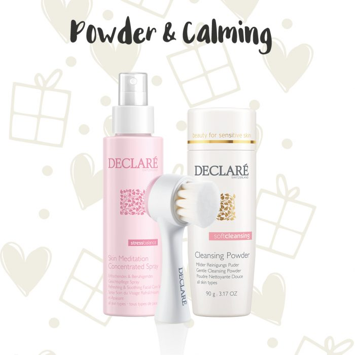 Declaré cadeauset Skin Meditation Concentrated Spray - Cleansing Powder - Borstel